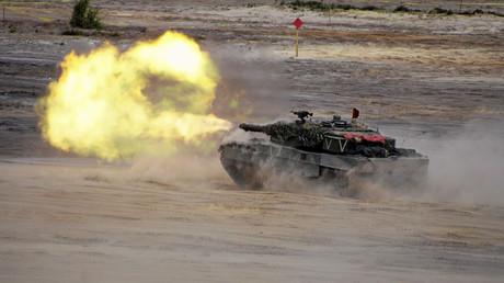 Ein Panzer während der NATO-Übung