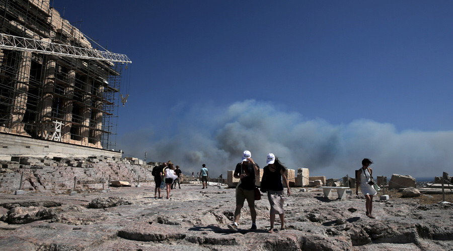 Greece asks EU for help as 'hellish' forest fires rage around Athens (PHOTOS, VIDEO)