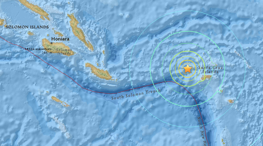 6.9 quake strikes near Solomon Islands, tsunami warning lifted