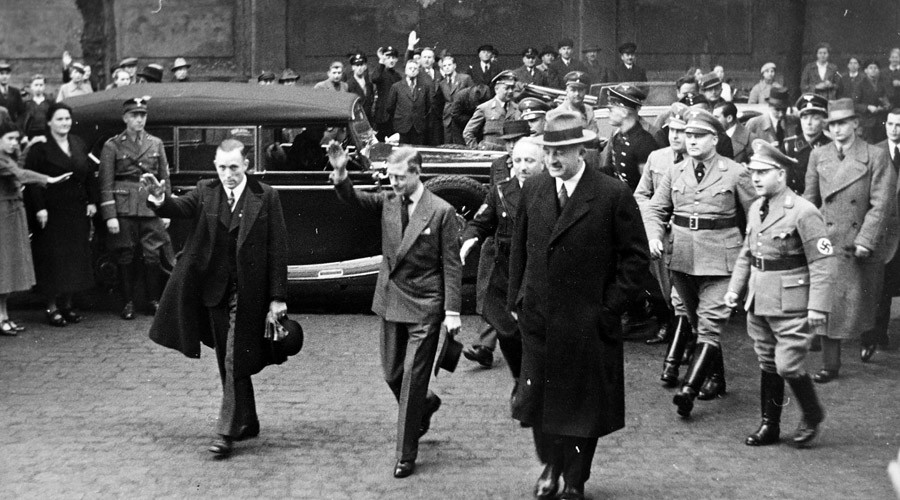 Casual greeting or Nazi salute? Prince Edward's tour of Hitler's Germany in pictures