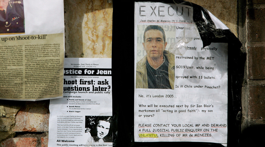 'Brutal execution': Jean Charles de Menezes vigil held 10yrs after counter-terror police shooting