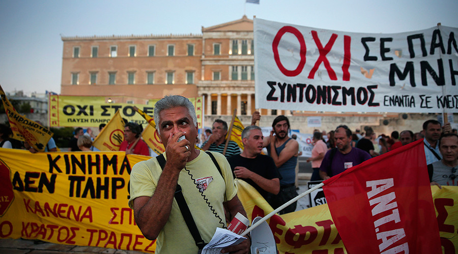 Anti-austerity protest in Athens as MPs vote for second bailout reform package (PHOTOS, VIDEO)