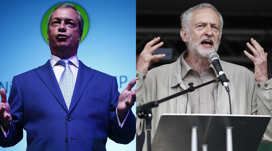 'At least he's a socialist': Nigel Farage backs Jeremy Corbyn for Labour leadership