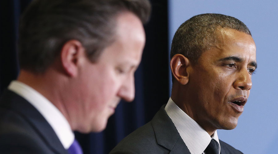 Britain's Prime Minister David Cameron (L) and U.S. President Barack Obama © Yves Herman