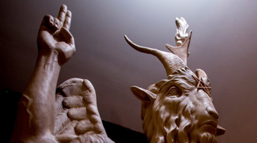 Satanic Temple unveils Baphomet statue, protesters say 'Satan has no place' in Detroit