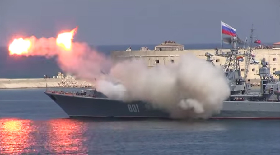 Russian frigate's missile launch at Navy Day meets messy end (VIDEO)