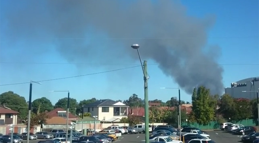 Massive blaze engulfs furniture factory in Sydney suburb (PHOTOS)