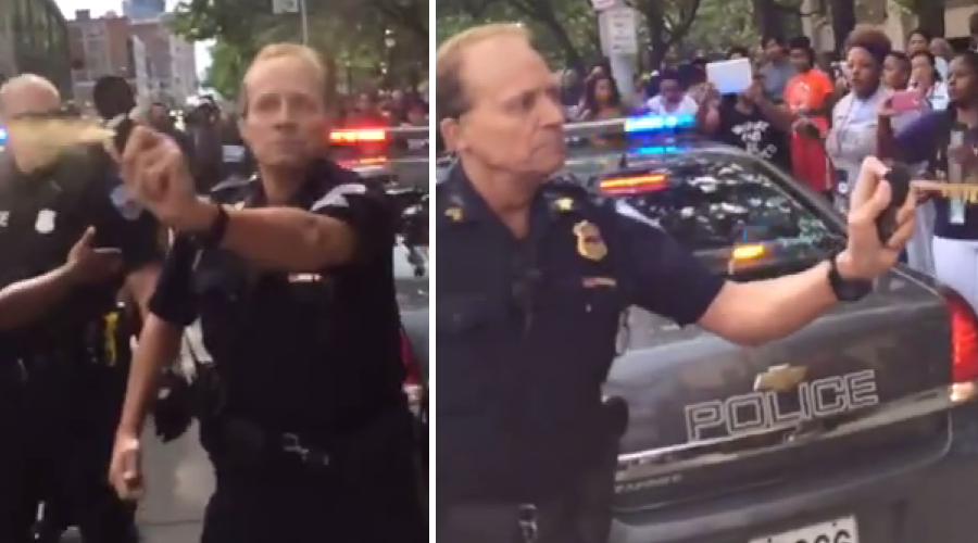 Police pepper spray activists after Black Lives Matter conference in Cleveland (VIDEO)