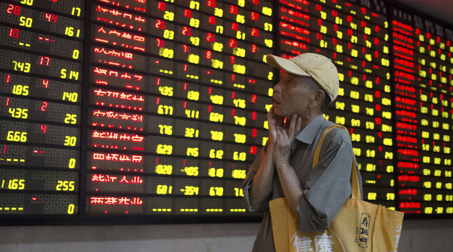 China stocks suffer biggest one-day loss in 8yrs, Shanghai Composite drops 8.5%
