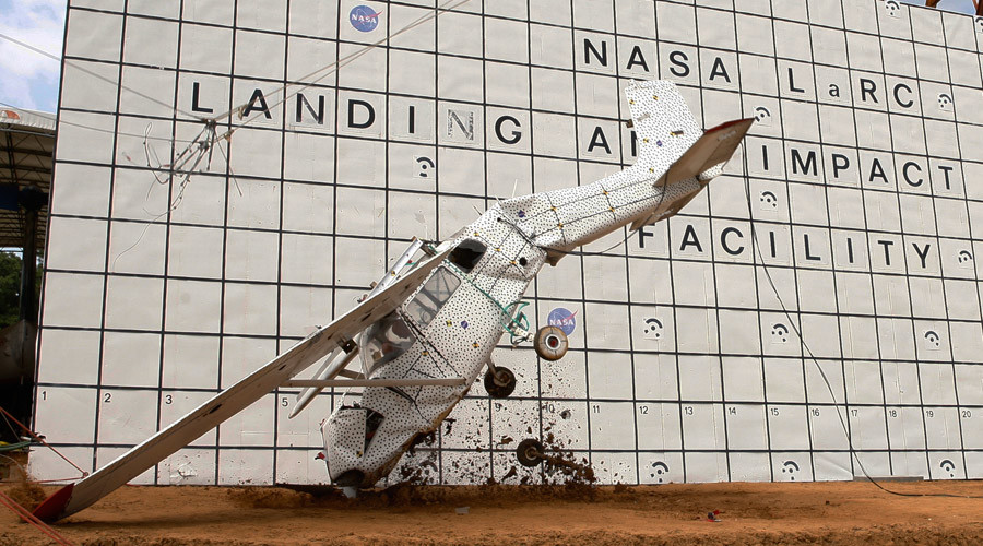 NASA crash tests plane to improve emergency beacon that failed on MH-370 (VIDEO)