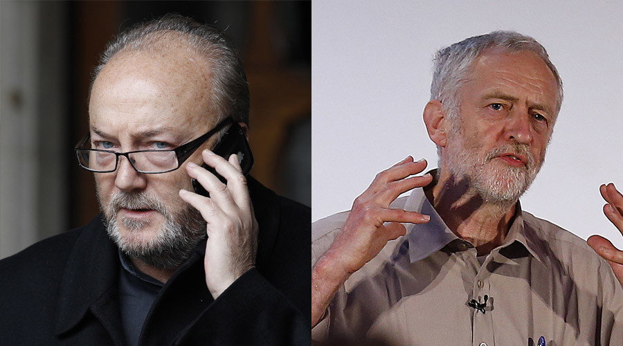 Former British MP George Galloway (© Suzanne Plunkett), Candidate Jeremy Corbyn (© Darren Staples)