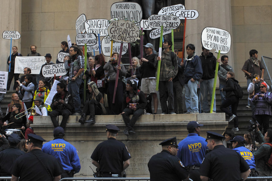 Occupy Wall Street protesters © Brendan McDermid