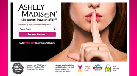 Screenshot from www.ashleymadison.com