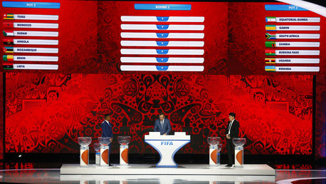 Preliminary draw for the 2018 FIFA World Cup at Konstantin Palace in St. Petersburg © Stringer