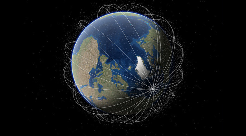 Spectacular Space Map Shows 14 000 Satellites Orbiting Earth Rt News