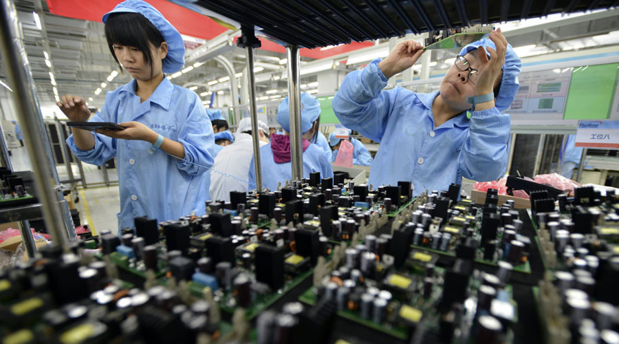 China's manufacturing index tumbles to 2-year low