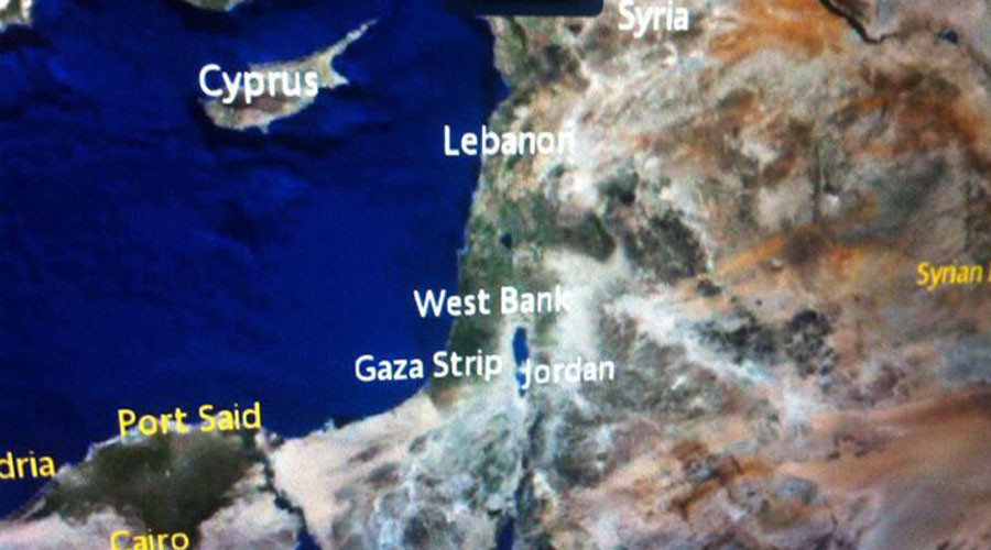 Cherchez Israel: Air France bashed for omitting Jewish state on in-flight map