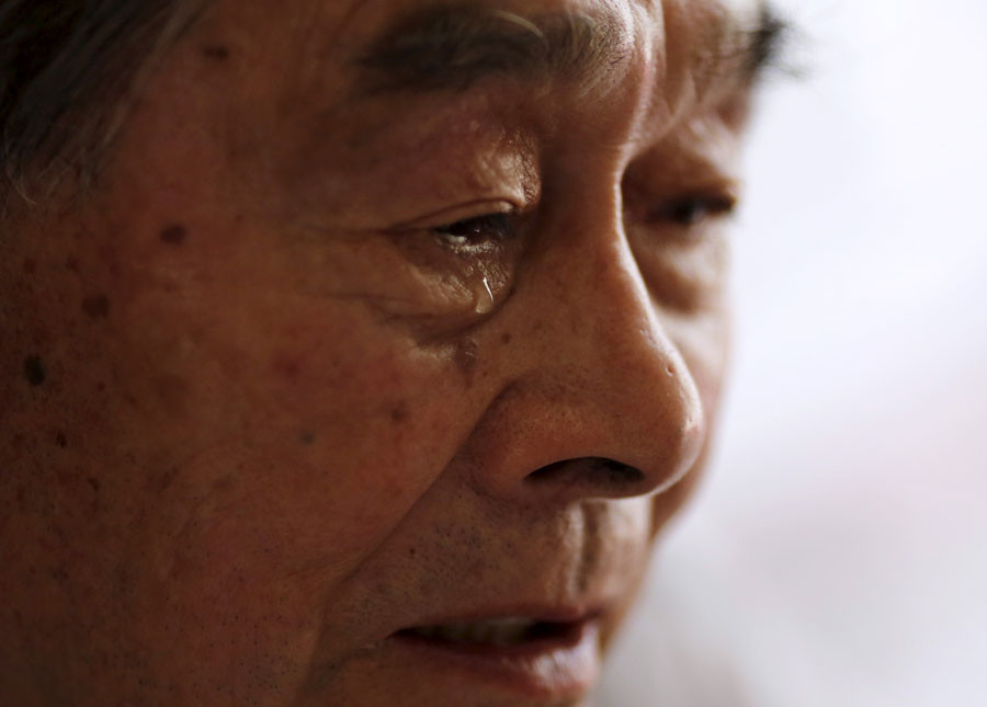 Yoshiteru Kohata, a 86-year-old Nagasaki atomic bombing survivor. © Toru Hanai