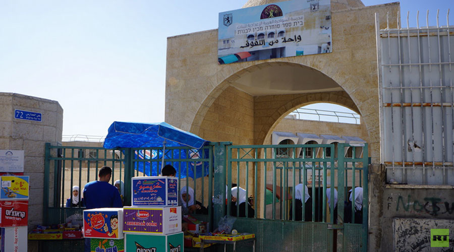 The best Palestinian school in the village. You cannot enter it without a special accreditation from the Ministry of Education. Palestinian journalists, for example, cannot get accreditation to visit it. © Nadezhda Kevorkova