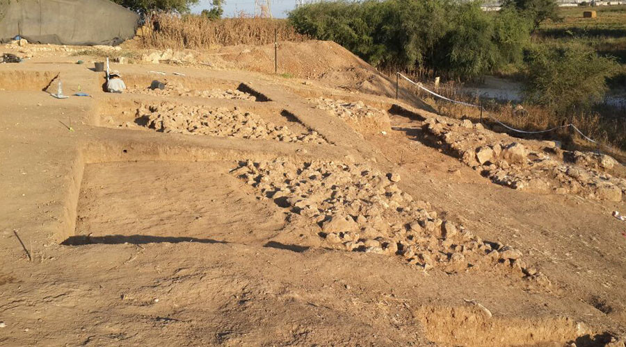 This is a view of the remains of the Iron Age city wall of Philistine Gath. © Prof. Aren Maeir, Director, Ackerman Family Bar-Ilan University Expedition to Gath