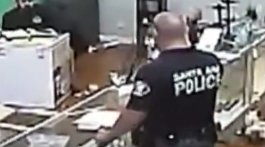 Cops claim privacy violation, sue over video showing them eating marijuana during raid