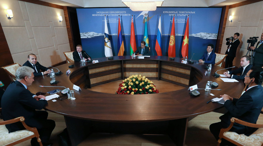 Eurasian Intergovernmental Council heads © Ekaterina Shtukina