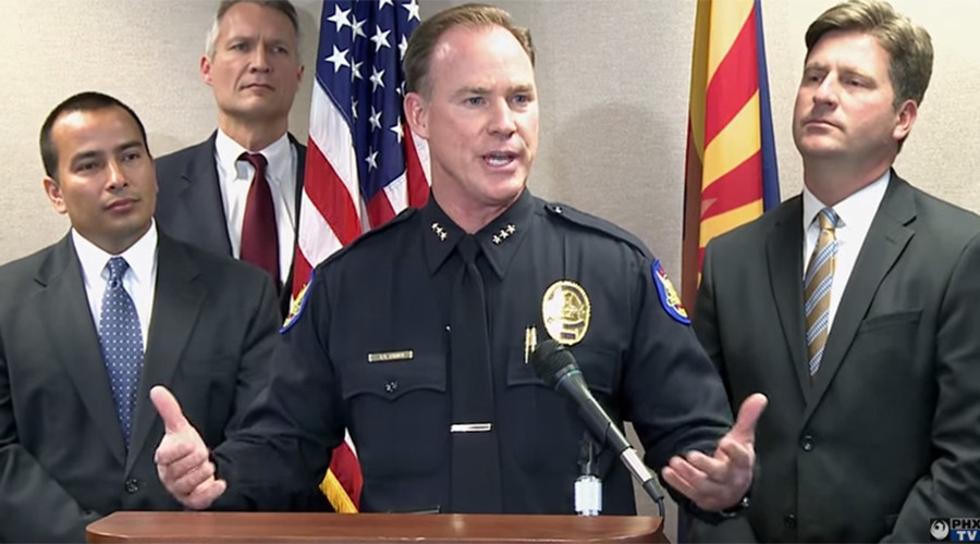 Bounty hunters attempt raid on Phoenix police chief's house after false social media tip