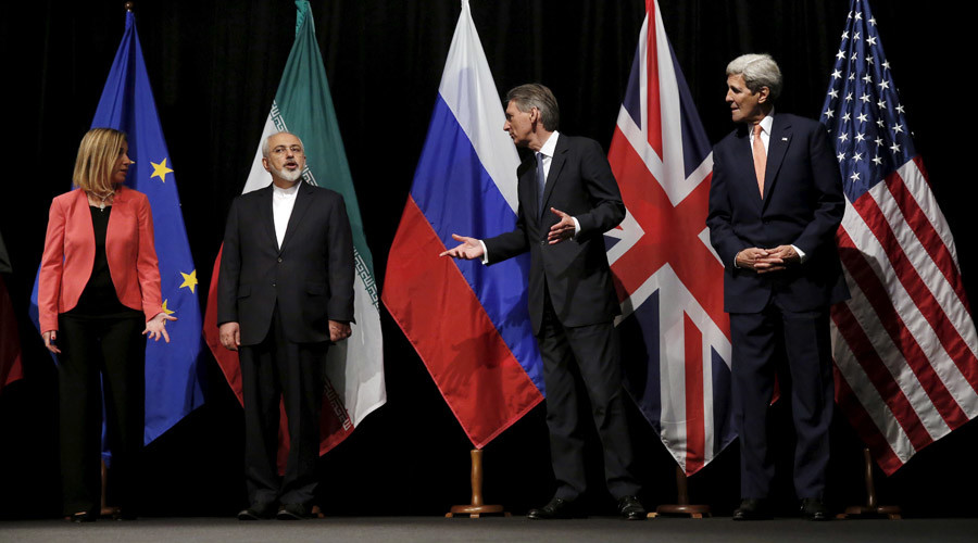 Iran and six major world powers reached a nuclear deal, Vienna International Center in Vienna, Austria July 14, 2015. © Carlos Barria