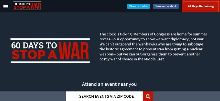 "Screenshot from ""60 Days to Stop a War"""