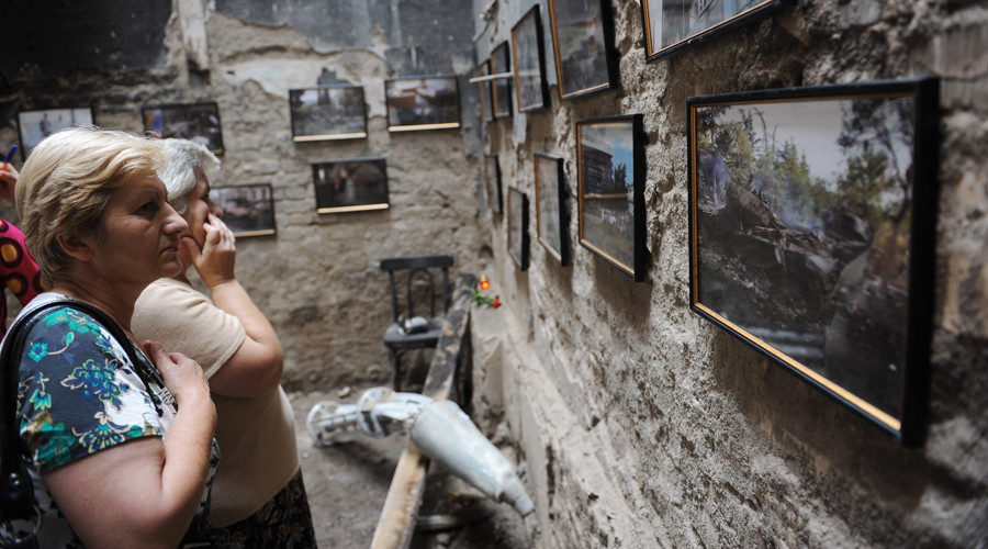 The Genocide Museum commemorating the 2008 war in South Ossetia opened in Tskhinvali. © Grigoriy Sisoev