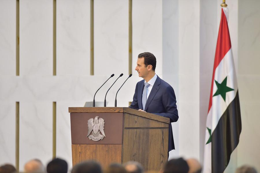 Syria's president Bashar al-Assad © SANA / Handout via Reuters