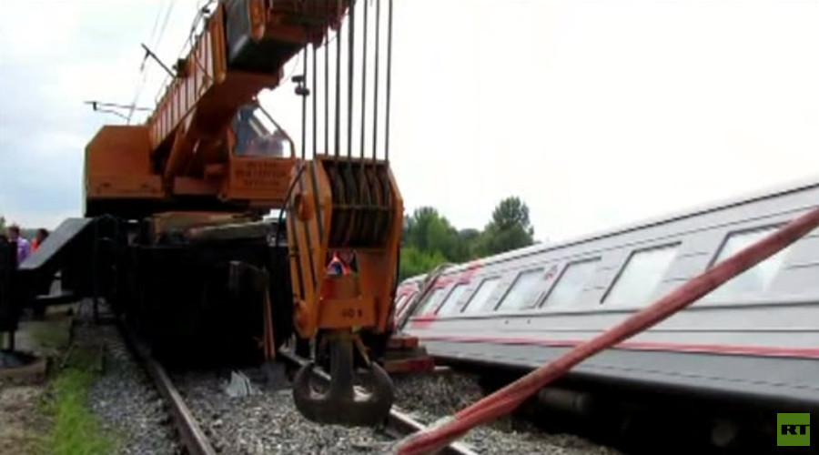 'Rail theft' suspected to be behind massive train derailment in Russia