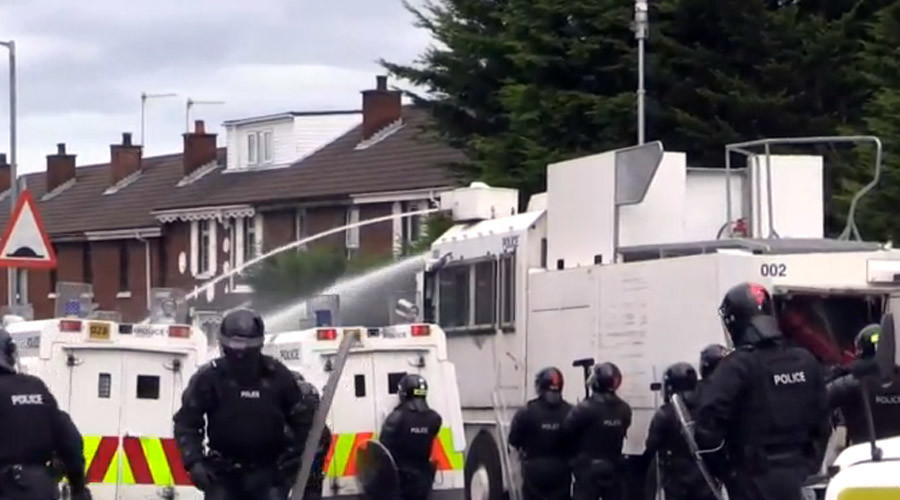 Watercannon deployed as Belfast Republican Parade marred by clashes
