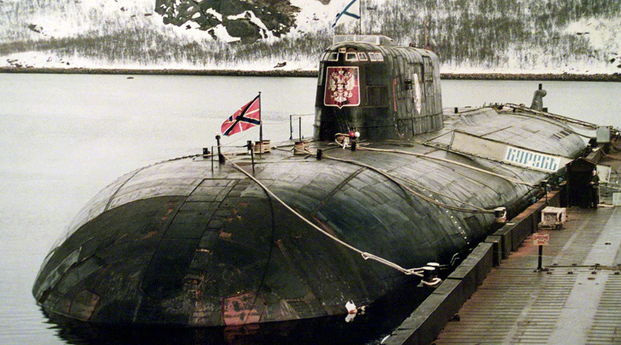 The May 2000 file picture shows the Kursk nuclear submarine docked at Vidyaevo naval base. © Reuters