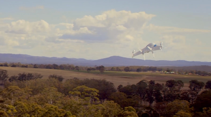 Project Wing drones tested in Australia, August 2014 ©  Google