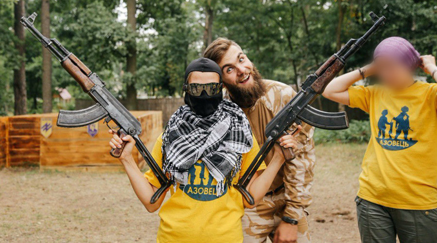Neo-Nazi summer camp: Ukrainian kids taught to shoot AKs by Azov battalion members  (PHOTOS)