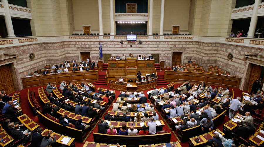 Greek parliament approves draft 3rd bailout after marathon overnight session