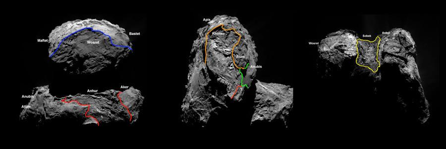Comet southern hemisphere © ESA / Rosetta / MPS for OSIRIS Team MPS / UPD / LAM / IAA / SSO / INTA / UPM / DASP / IDA
