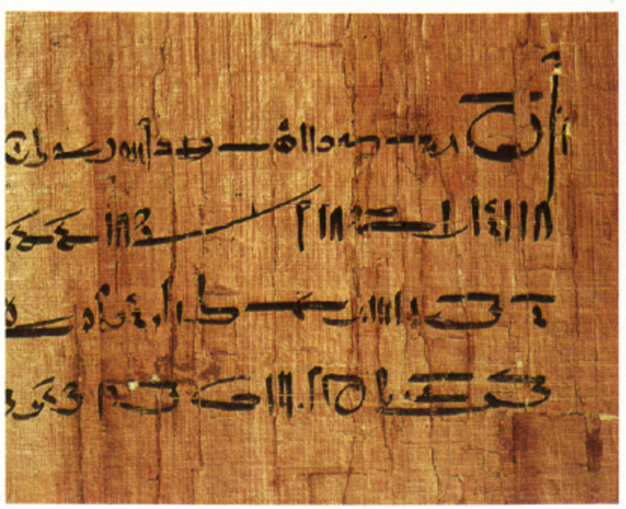 Detail from the right side of an ancient Egyptian annuity contract © Courtesy of the Oriental Institute of the University of Chicago