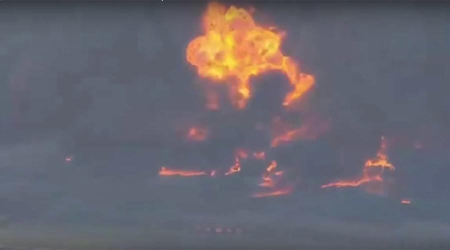 3-alarm fire engulfs Texas chemical plant (PHOTOS, VIDEO)