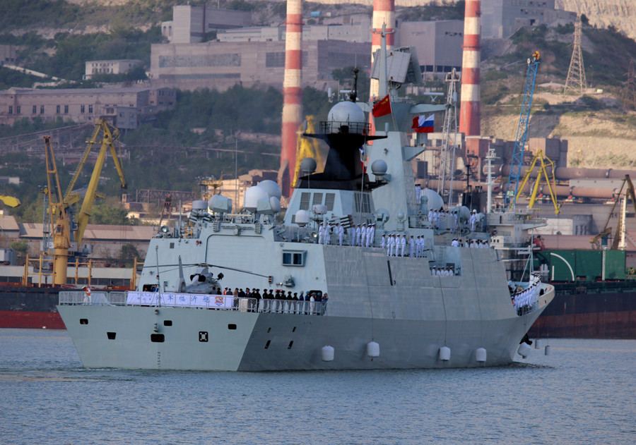 Chinese missile frigate Linyi during the opening of the Russian-Chinese naval exercise Naval Interaction–2015. © Yulia Kaminskaya