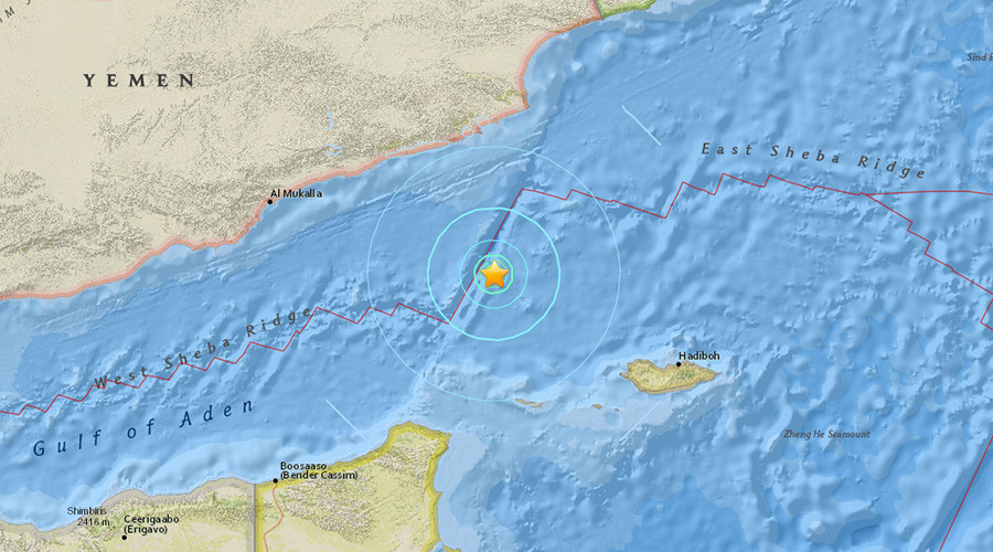 5.7 quake strikes off Yemen coast