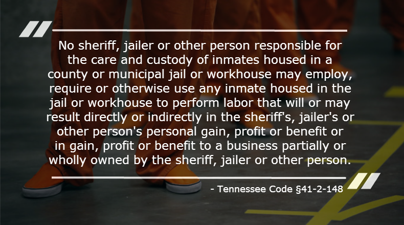 Tennessee Code §41-2-148(a)