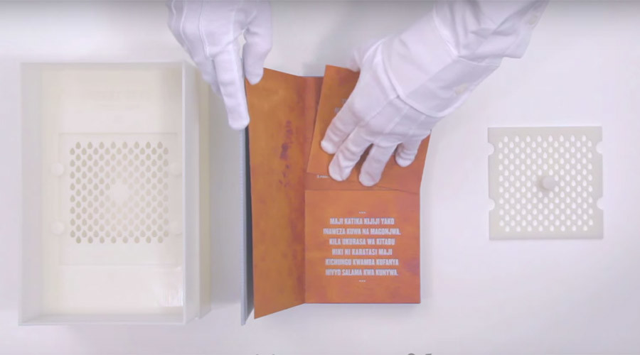 'Drinkable book' could provide millions with purified water