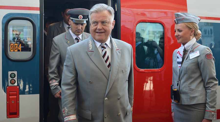 Russian railroad boss intends to resign, poised to join upper house