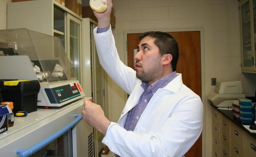 Dr. Mark Blenner works in his laboratory