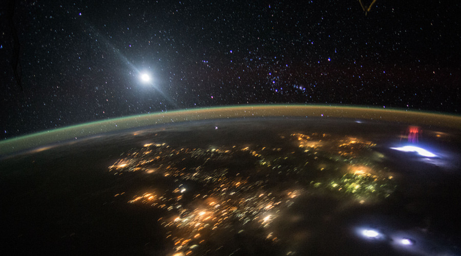 'Red Sprite': ISS astronauts capture rare flash of light dancing atop thunderstorm (PHOTO)
