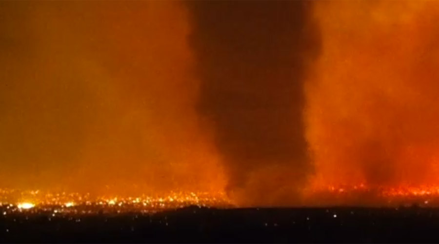 Apocalyptic 100ft 'firenado' sprouts from Idaho wildfire (VIDEO)