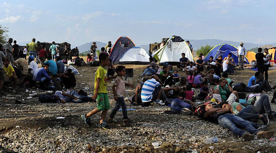 Migrants camp near the village of Idomeni at the Greek-Macedonian border, August 20, 2015. © Alexandros Avramidis