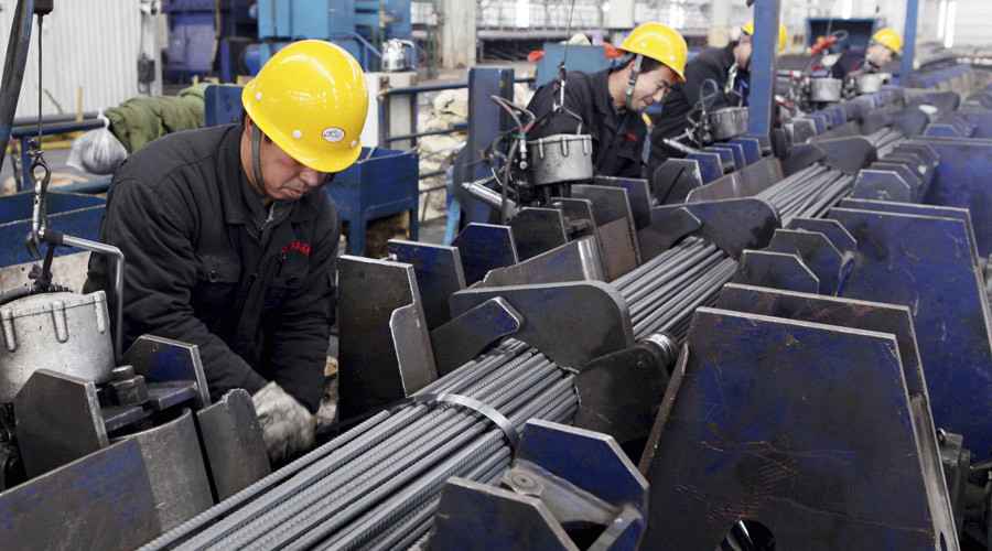 Biggest slowdown in Chinese manufacturing in 6yrs